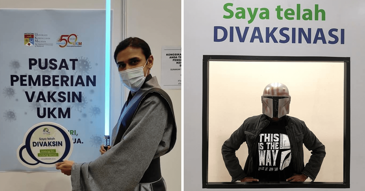 Malaysians wear costumes to vaccination - Star Wars