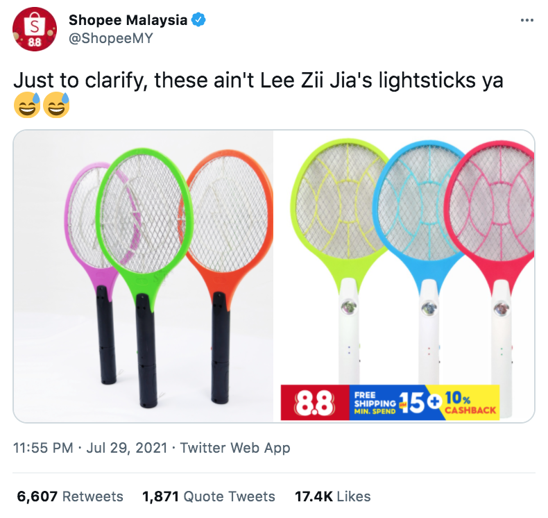 Fans come up with fandom name and merch for Lee Zii Jia - Twitter