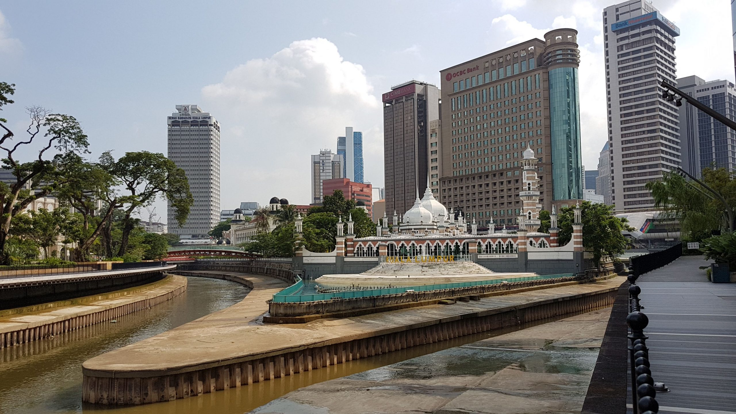 Architecture of old Jamek Mosque in KL