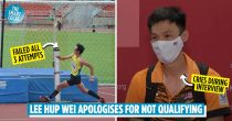 National High Jumper Lee Hup Wei Apologises For Not Doing His Best At Tokyo Olympics In An Emotional Interview