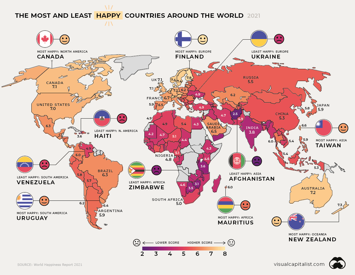 World Happiness Report 2021 Global overview