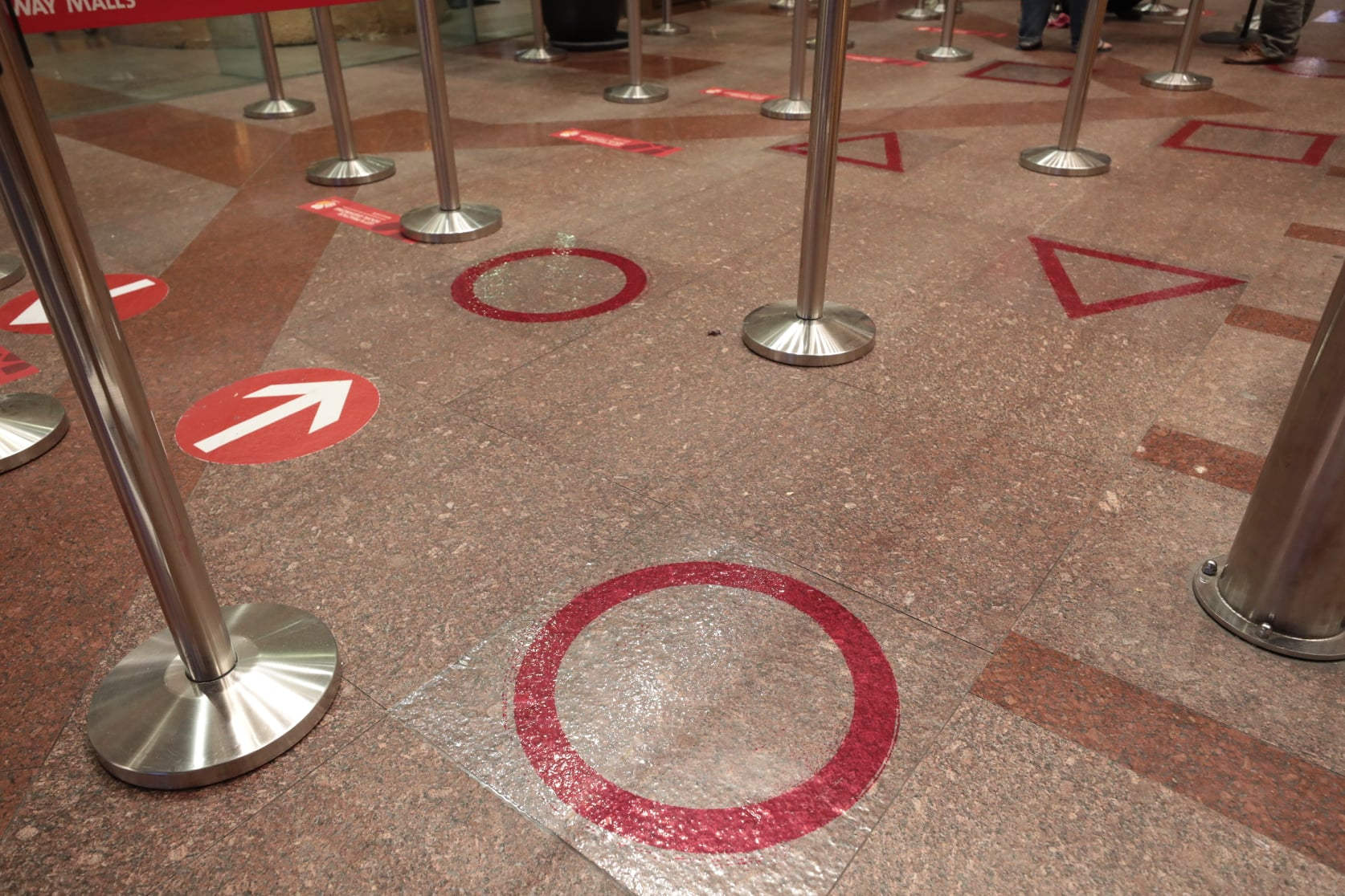 Squid Game at Sunway Pyramid - markers