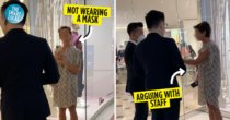 Woman Refuses To Wear A Mask At Mall & Insists On Entering Store, Khairy Says KKM Is Investigating