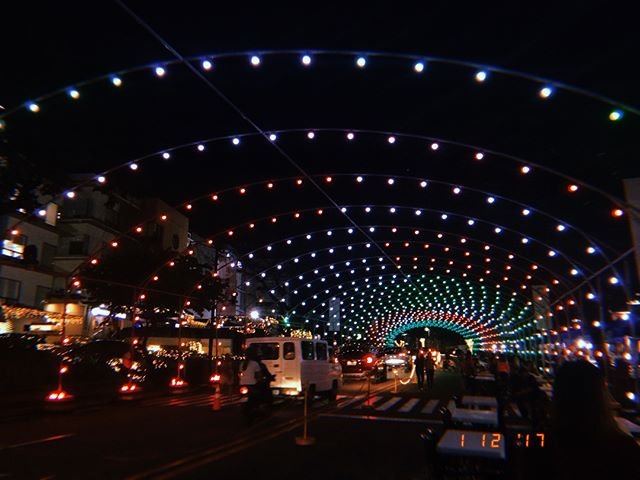 Christmas music and lights display in Ortigas tunnel