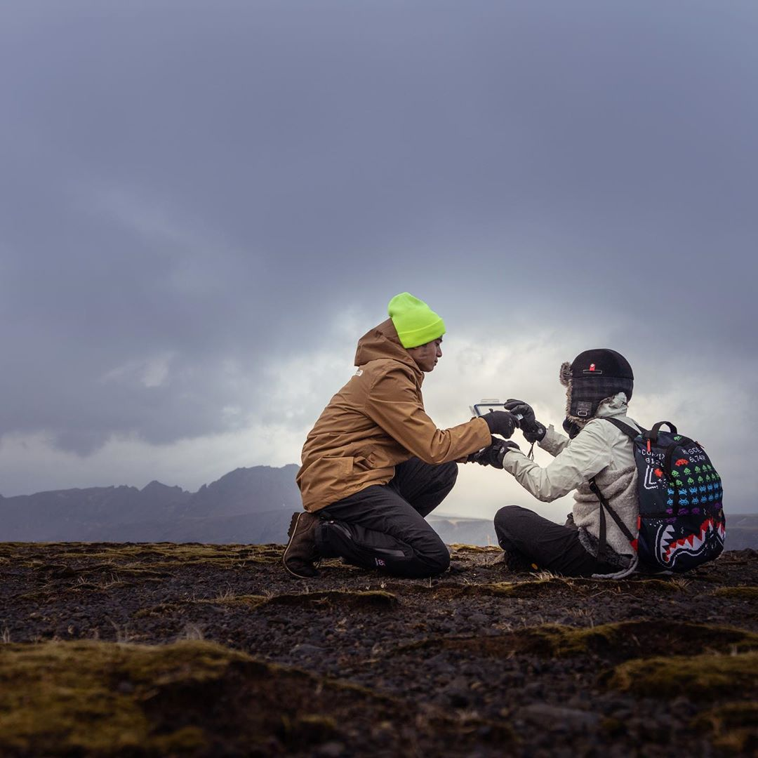 On top of a mountain in Iceland