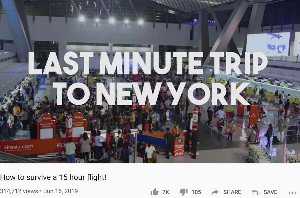Screenshot of their vlog on their last trip to New York