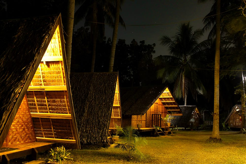 Archery Asia Glamping at night
