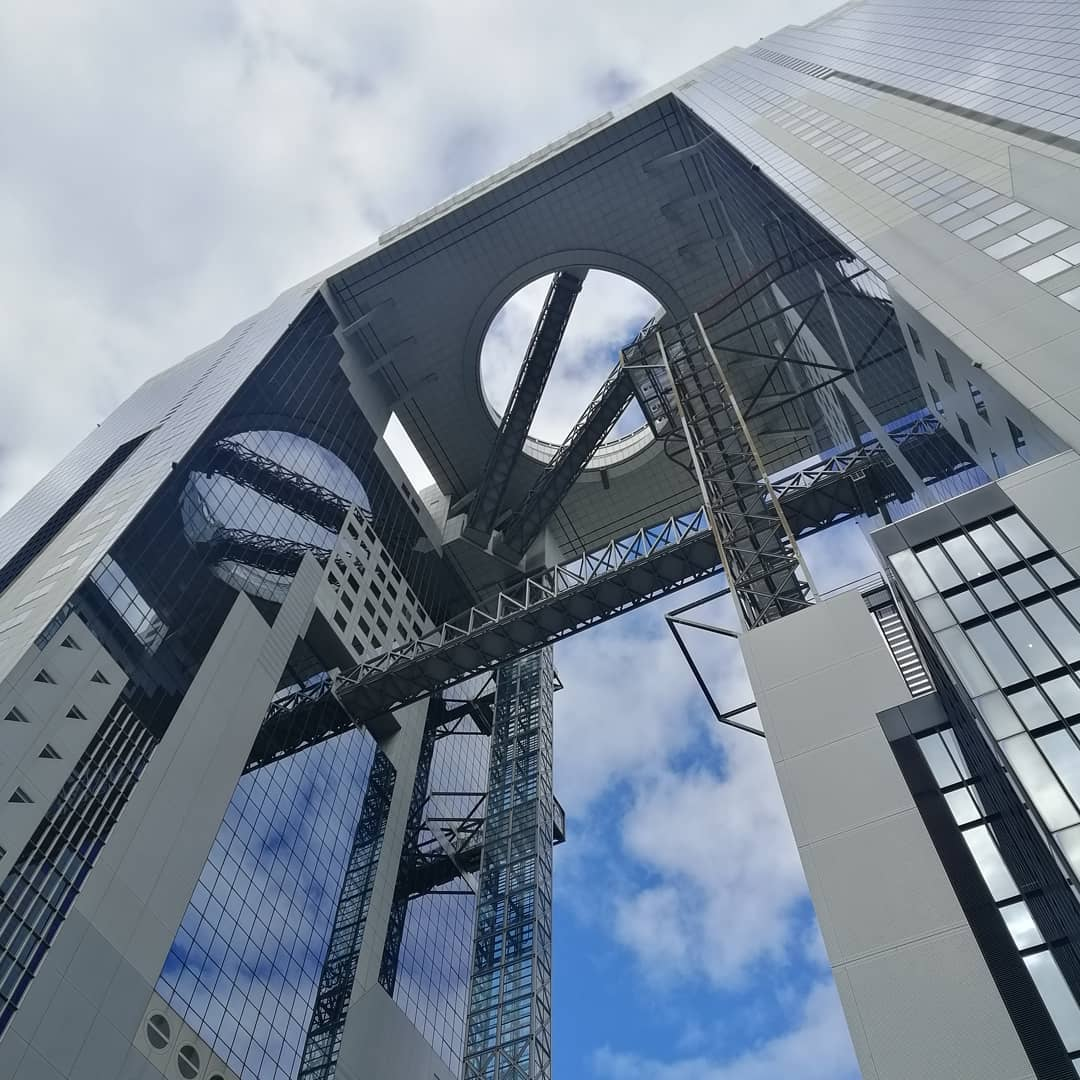 Umeda Sky Building from the ground