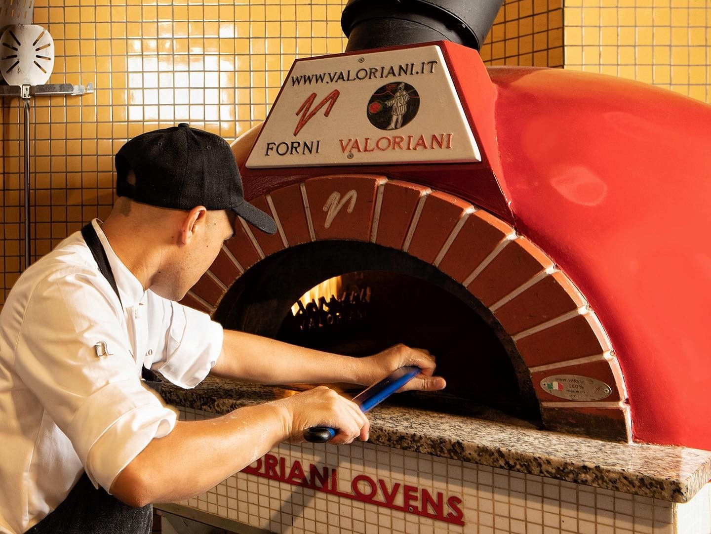 wood fired oven at a mano italian restaurant