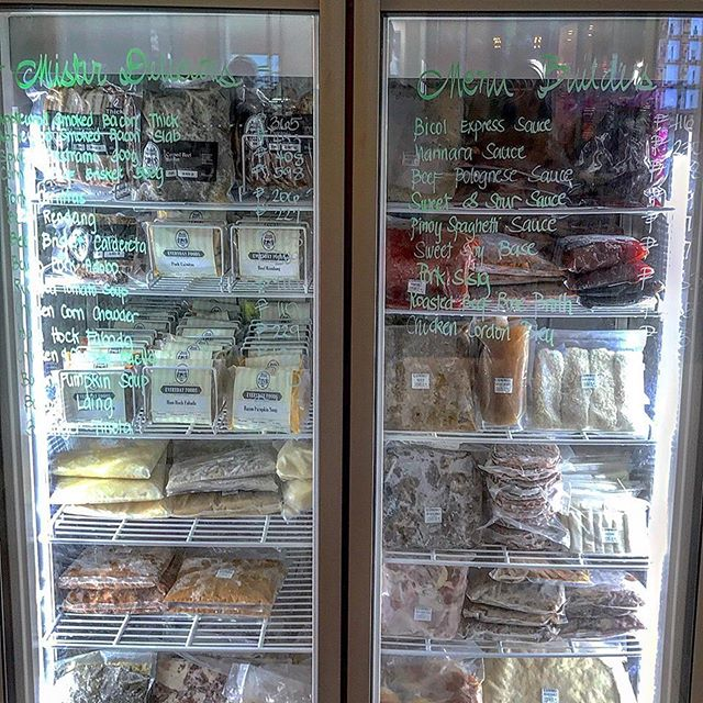 Mister Delicious' refrigerator full of frozen meats