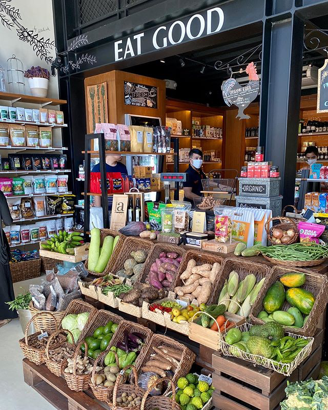 Real Food PH's storefront with fresh produce