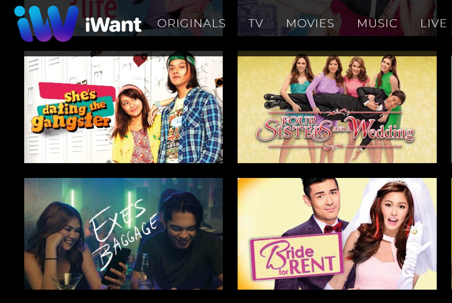 Screenshot of the still of Exes Baggage in iWant along with other now-free iWant movies