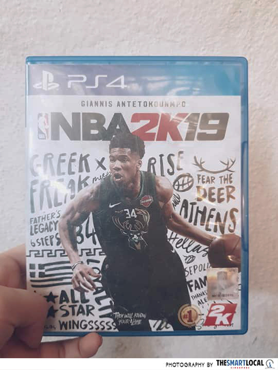 A Play Station CD of NBA 2K19