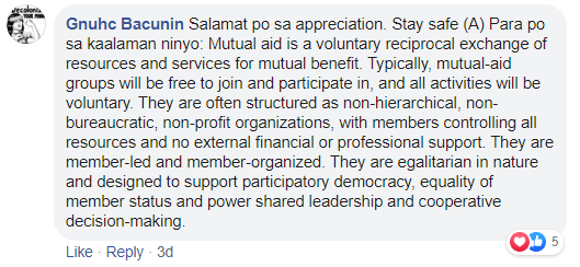 Mutual aid according to the tricycle driver
