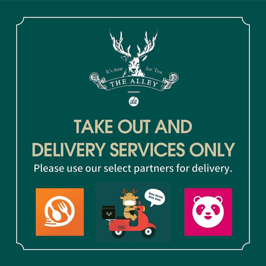 The Alley's Delivery and Take-out Advisory