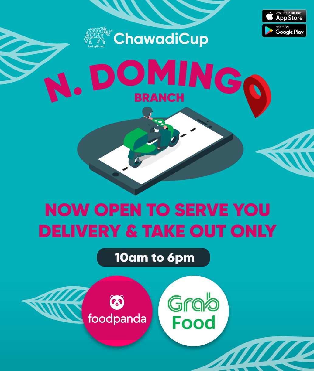 ChawdiCup's delivery and take-out announcement