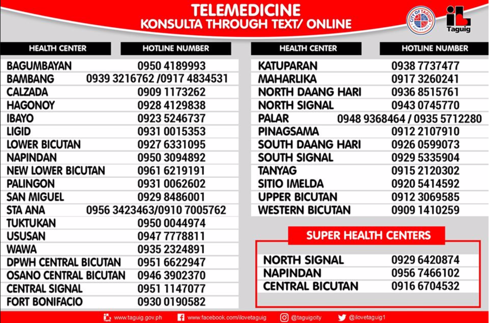 infographic on Taguig's Telemedicine program