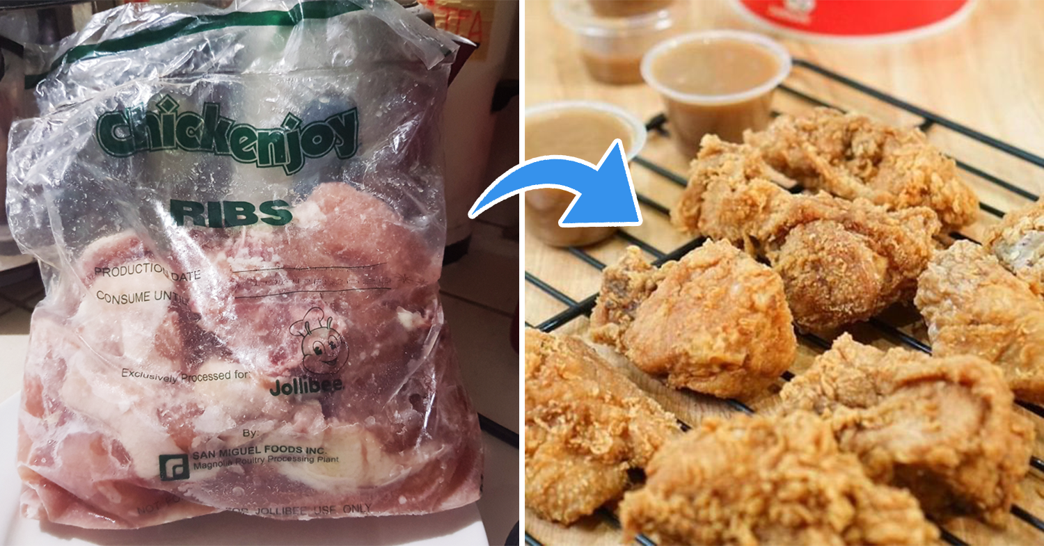 uncooked to cooked fried chicken