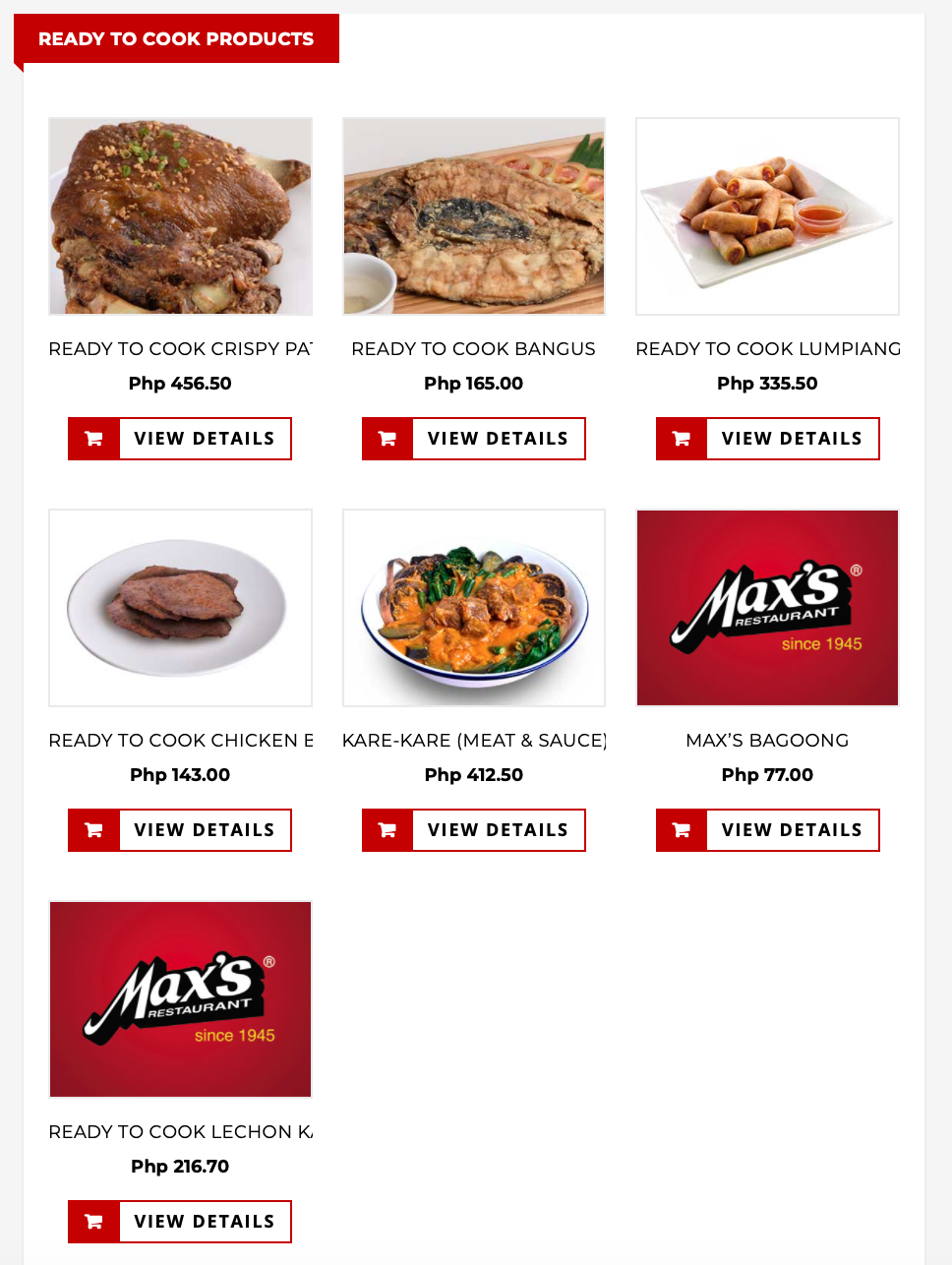 max's delivery website