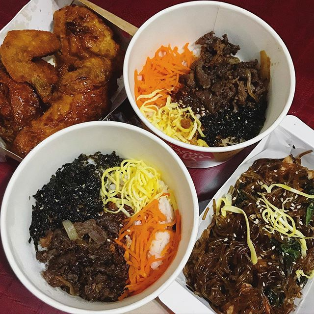 spread of korean dishes