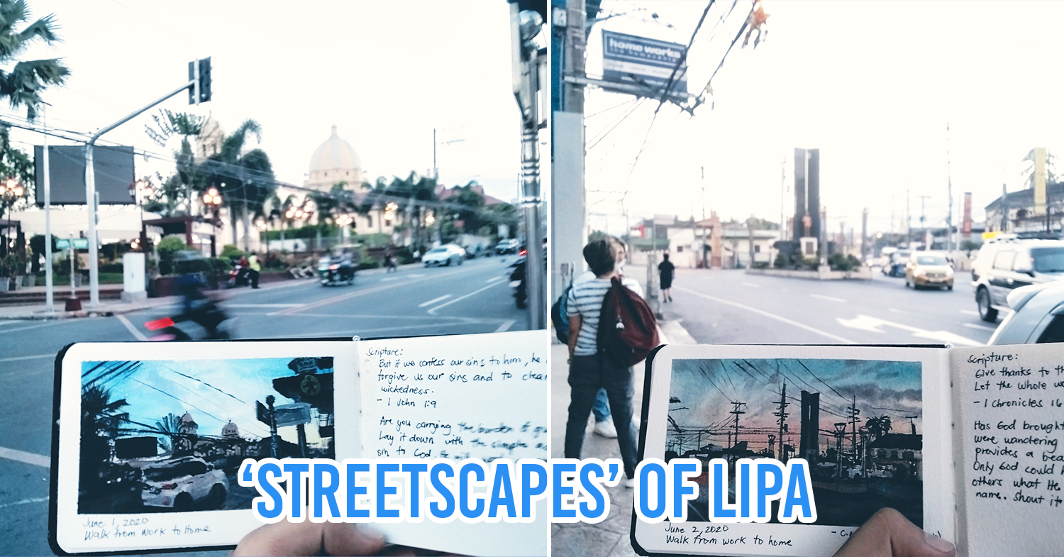 Batangueño Artist Paints Mini 'Streetscapes' of Lipa To Capture The City's Beauty At Dusk