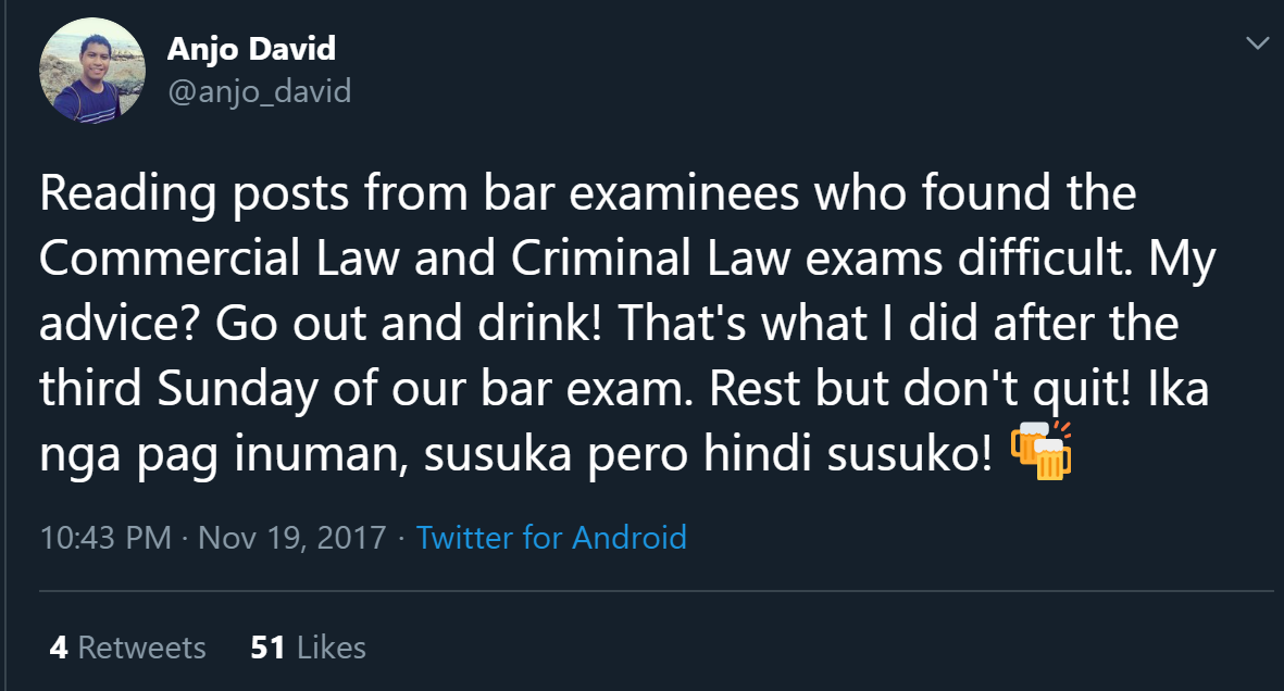 Twitter account of Atty. Anjo