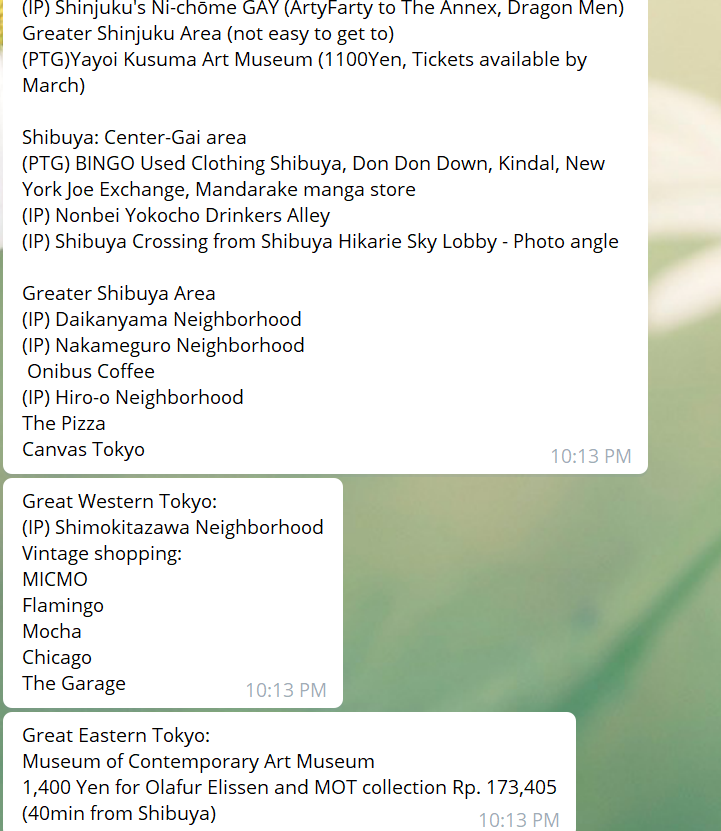 cancelled travel COVID-19 - Tokyo 2020 supposed itinerary