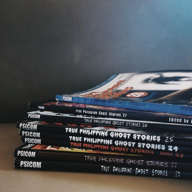 a pile of True Philippine Ghost Stories books