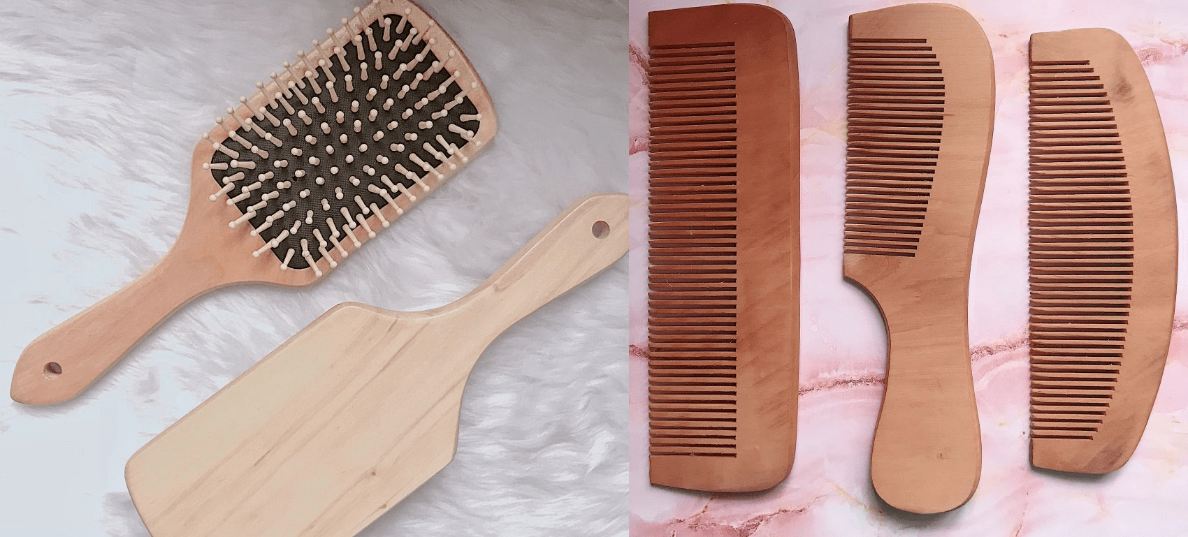 sustainable makeup and skincare - paraluman combs