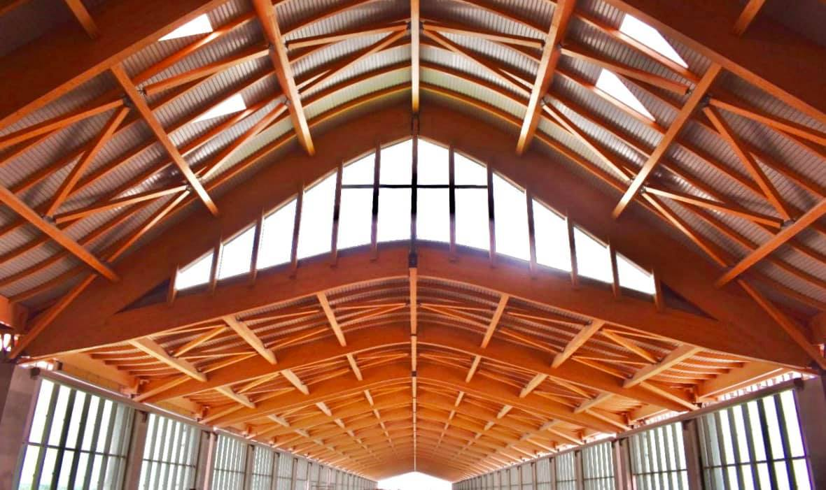 New terminal Clark International Airport - roof arches