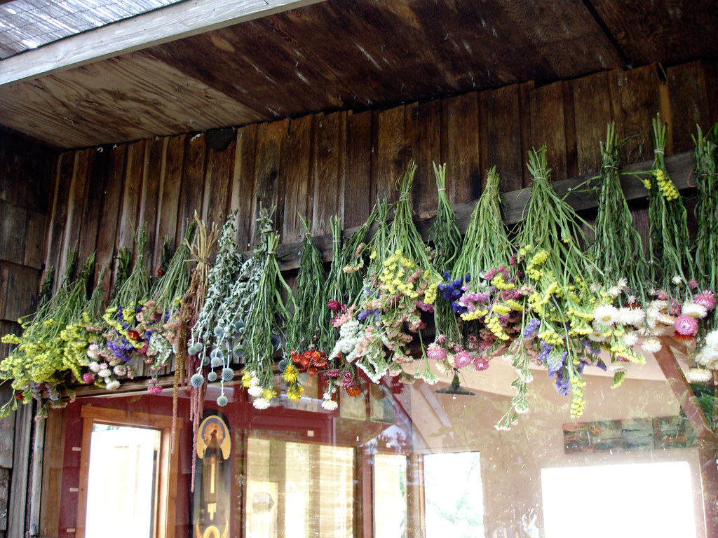 pressing/drying process of flowers