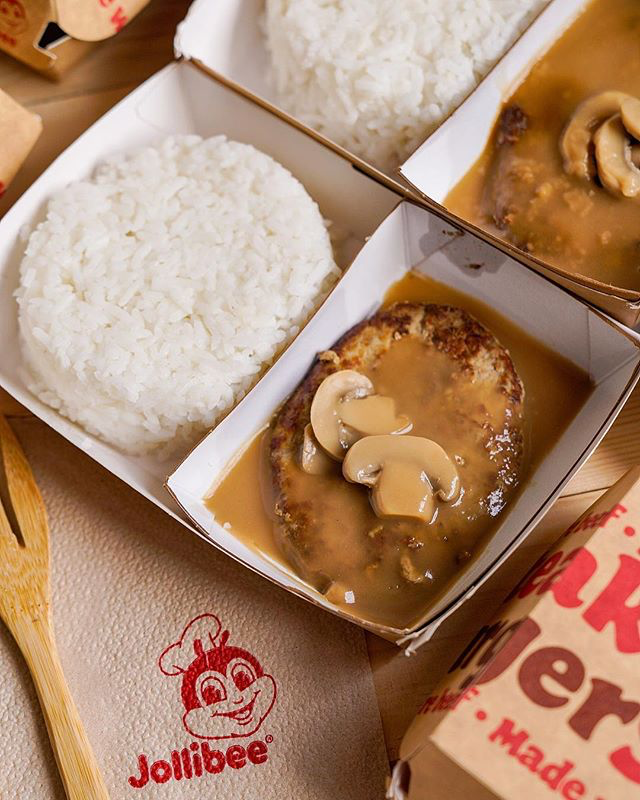 jollibee under 350 calories - burger steak