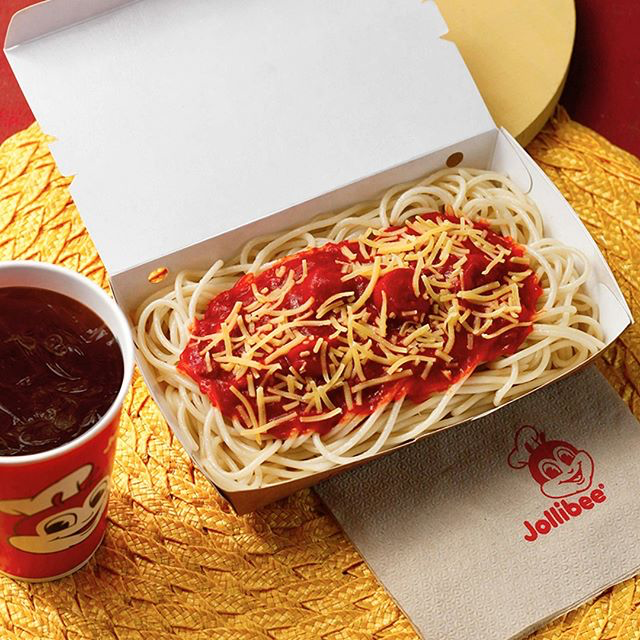 jollibee under 350 calories - spaghetti
