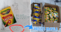 Filipino Teacher Gives Student A Box Of Crayons & Turns It Into A Full-Blown Donation Drive, Project Krayola