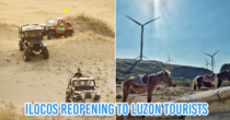 Ilocos Norte Reopens To Luzon Tourists, Visitors Can Ride Jeeps On Sand Dunes & Marvel At Wind Farms Again