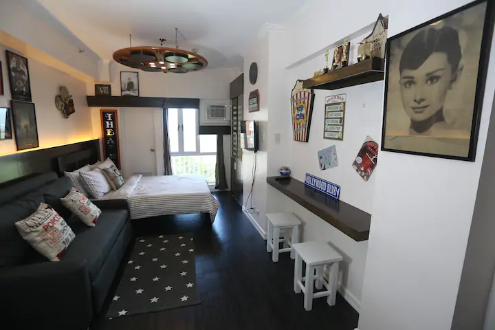 Tagaytay staycation houses - Fermil and Patricia's Cinema-inspired Airbnb