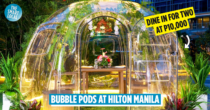 Hilton Manila Is Now Offering 'Vubble Pods' So You Can Isolate While Dining Outdoors In 2021