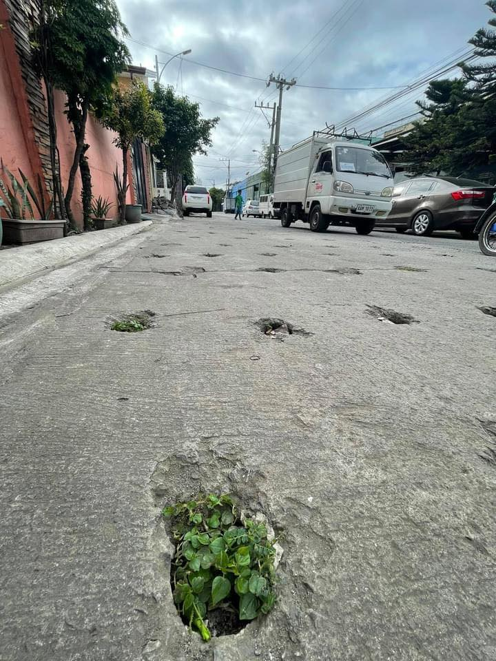 drilled holes at West Los Angeles Street in Quezon City