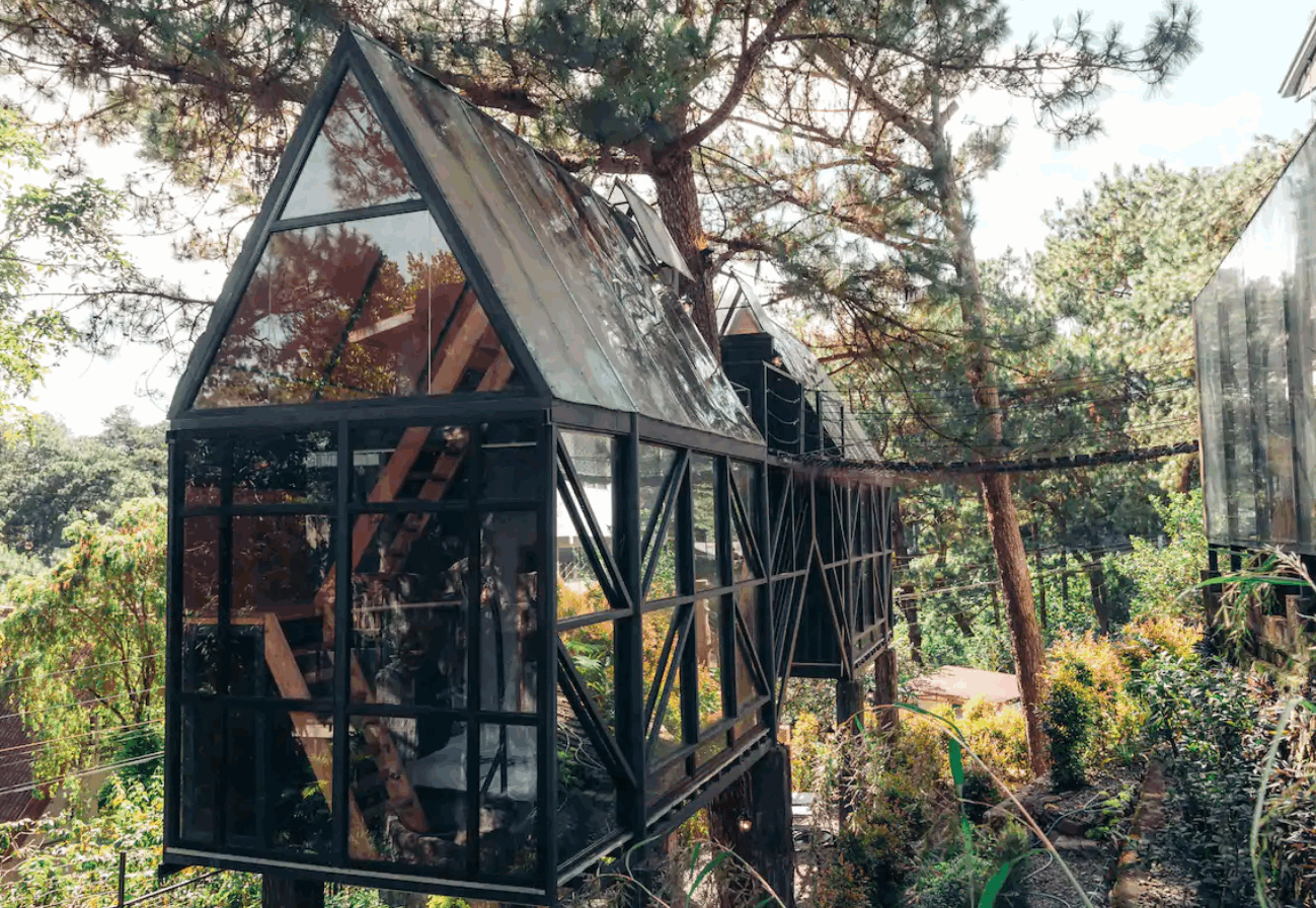 Treehouse hotels - Twin Glass Treehouses at Tudor in the Pines