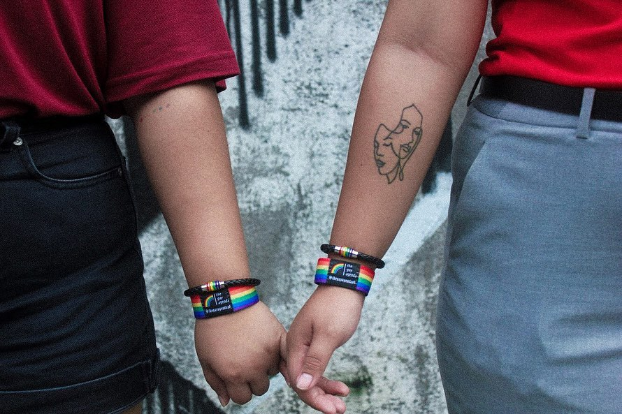 Valentines day gift ideas - The Gay Agenda bracelet and wrisband