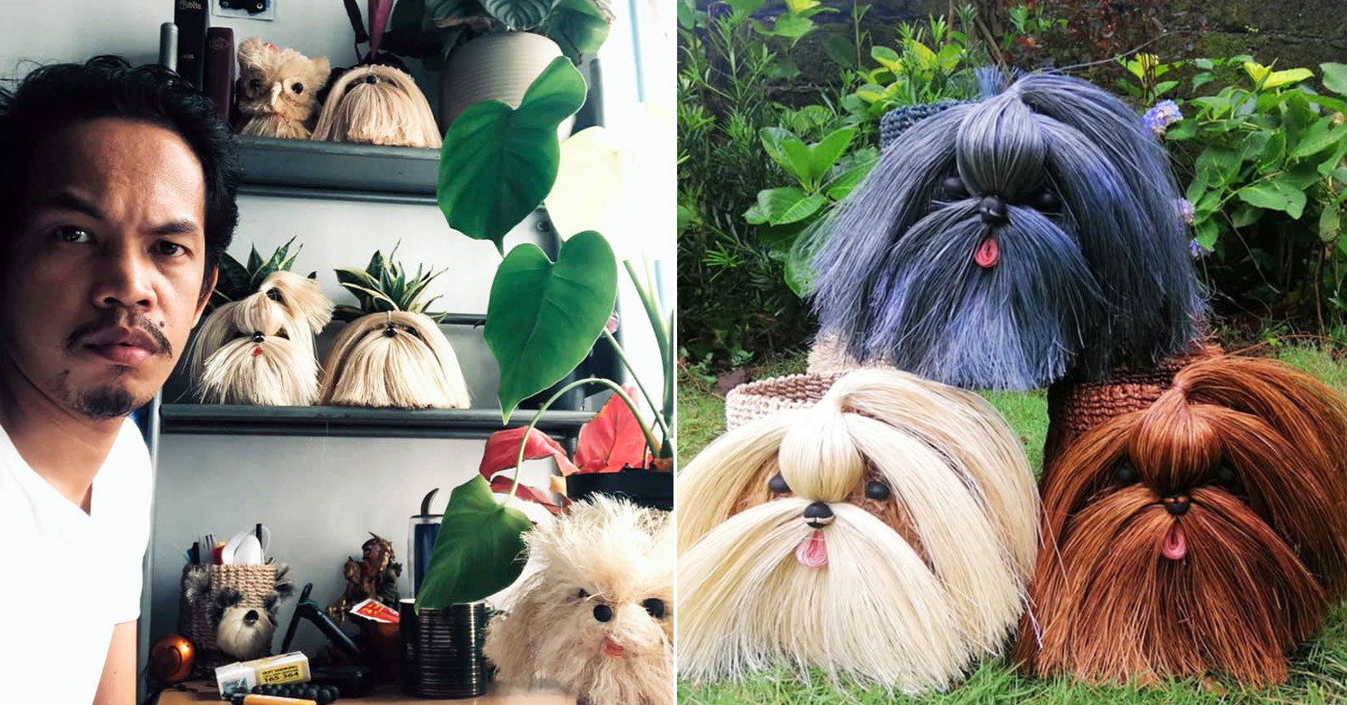 Dog baskets - Architect Gerald Volante and the Maltese-inspired dog plant baskets