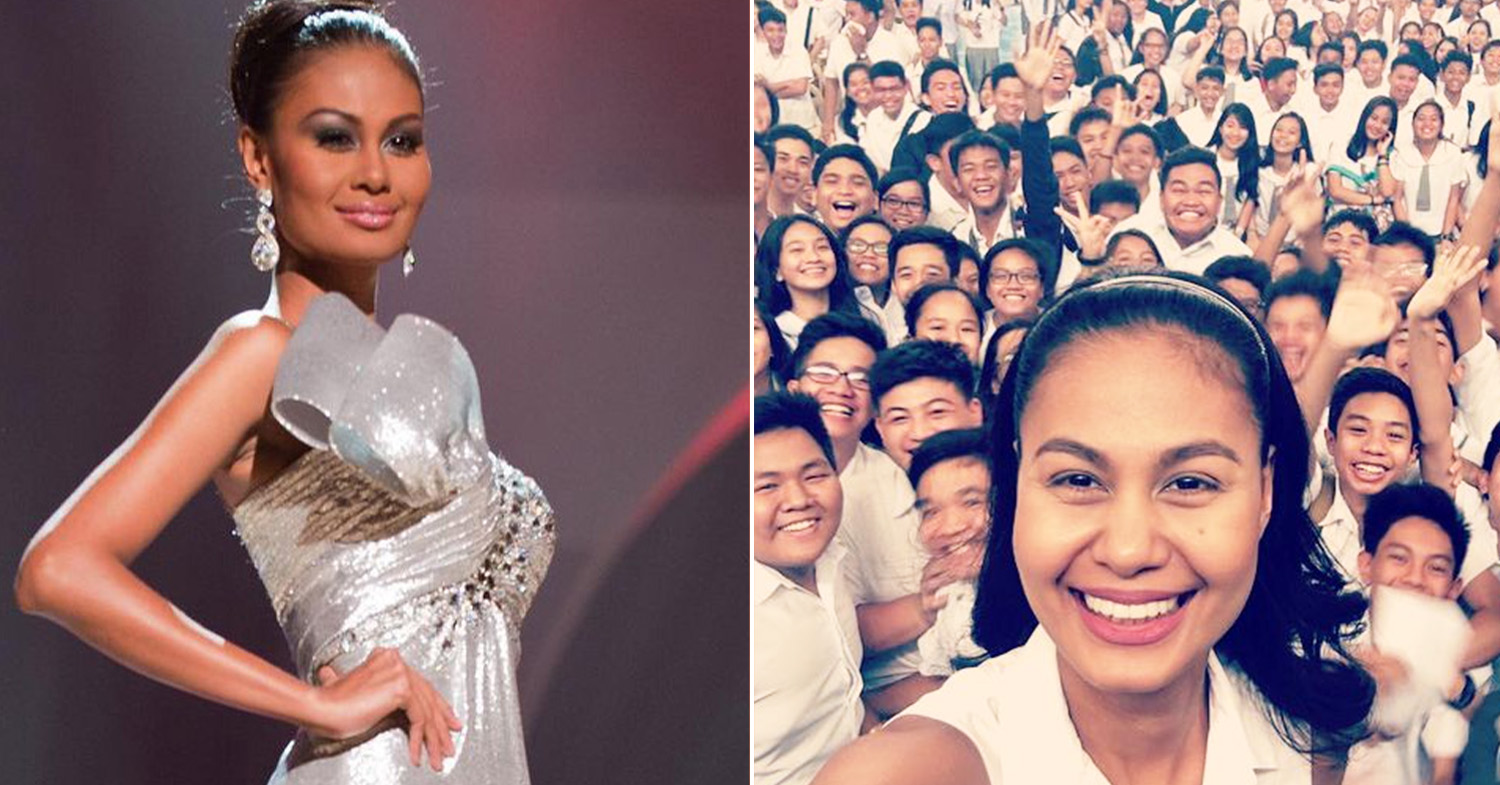 Miss Universe Philippines - Raj at the 2010 Miss Universe and Raj (right) at a group prayer event in 2018