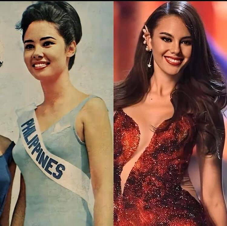 Miss Universe Philippines - Lalaine Bennett (left) and Catriona Gray (right)