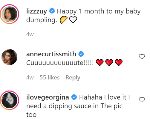 Liz Uy Baby Matias - sushi and dumpling costume - Dumpling Instagram post comment
