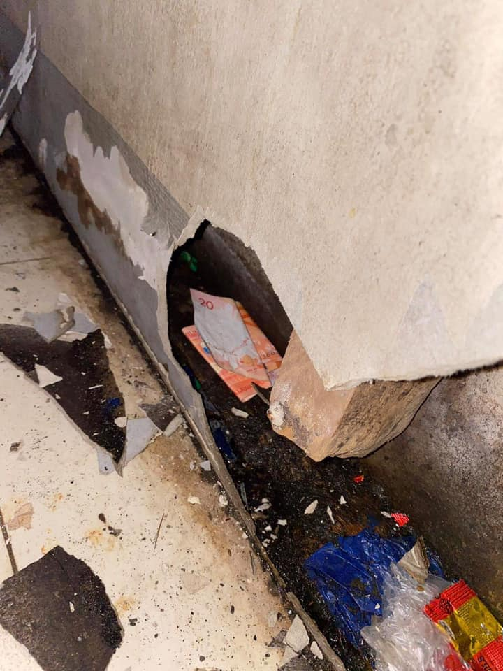 Woman Bacolod missing money - wall hole