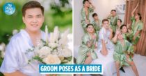 Groom Poses As A Bride In A Photoshoot, Slaying His Angles Better Than His Wife