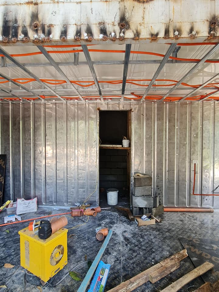 Container Van Home - interior before