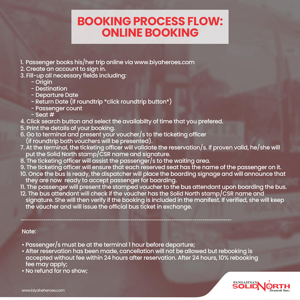 PITX to Baguio - Online Booking Process
