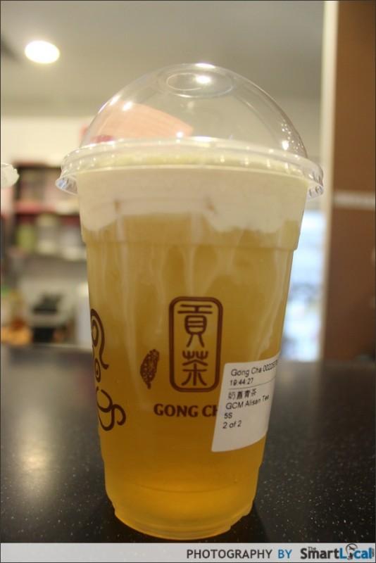 Gong Cha Reviews - Singapore Milk Tea & Shakes