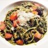 Pesto Genevese Spaghetti With Chicken And Tomato